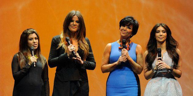 NEW YORK, NY - APRIL 30:  (L-R) Kourtney Kardashian Odom, Khloe Kardashian, Kris Jenner and Kim Kardashian of 'Keeping Up Wit