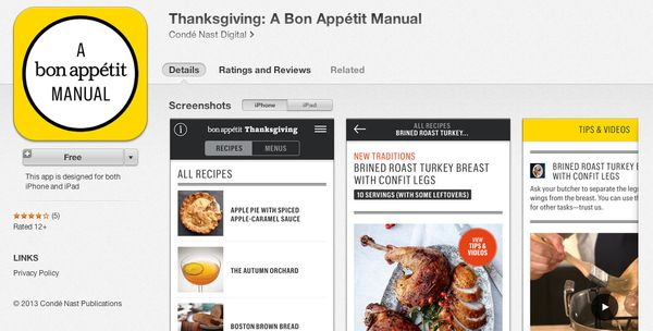 """<a href=""""https://itunes.apple.com/us/app/thanksgiving-bon-appetit-manual/id720808869"""" target=""""_blank"""">This free manual</a> in"""