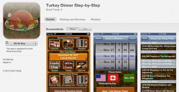 "<a href=""https://itunes.apple.com/cn/app/turkey-dinner-step-by-step/id576249074?mt=8"" target=""_blank"">This $0.99 app</a> plan"