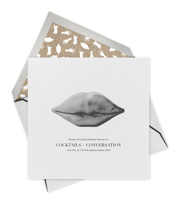When one of our favorite designers teams up with one of our favorite e-invitation sites, what's not to love? This collaborati