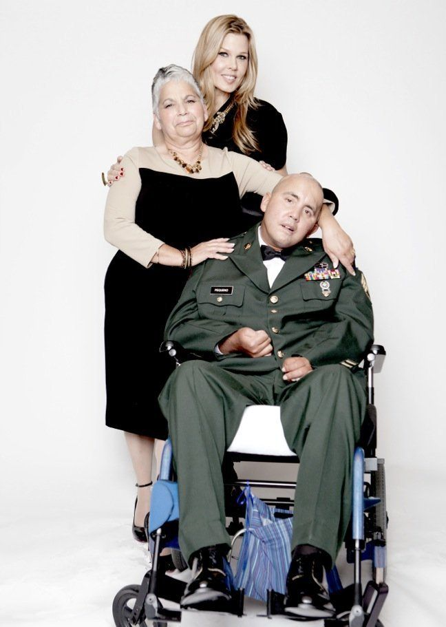Nelida Bagley, mother and caregiver to retired Staff Sgt. Jose Pequeno of the U.S. National Guard.  <strong>DRESS</strong>: T