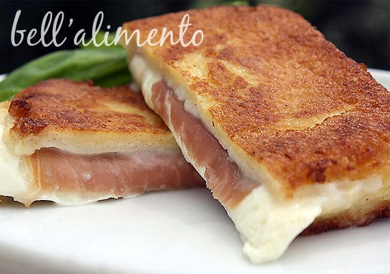 "<strong>Get the <a href=""http://www.bellalimento.com/2010/08/23/mozzarella-in-carrozza-fried-mozzarella-sandwiches/"" target="""
