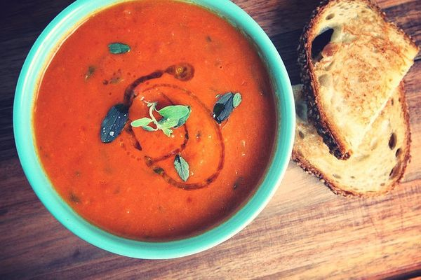 """<strong>Get the <a href=""""http://food52.com/recipes/9702-homemade-tomato-soup-with-truffle-grilled-cheese"""" target=""""_blank"""">Hom"""