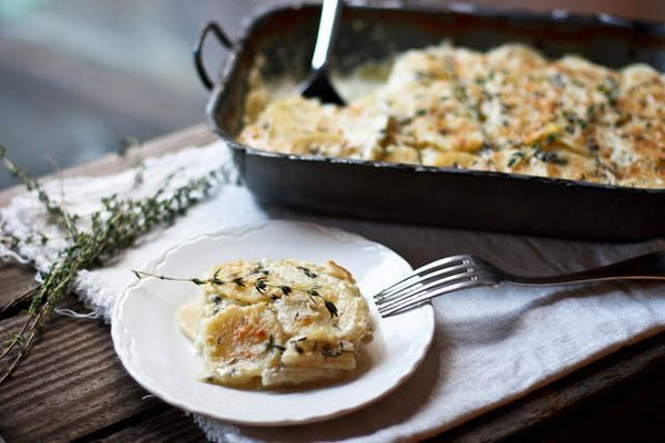 "<strong>Get the <a href=""http://food52.com/recipes/19693-parsnip-gratin-with-melty-gruyere-and-thyme"" target=""_blank"">Parsnip"