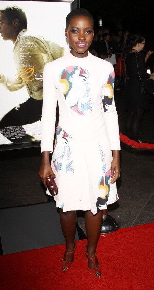 LOS ANGELES, CA - OCTOBER 14: Actress Lupita Nyong'o arrives at the Los Angeles premiere of '12 Years A Slave' at Directors G