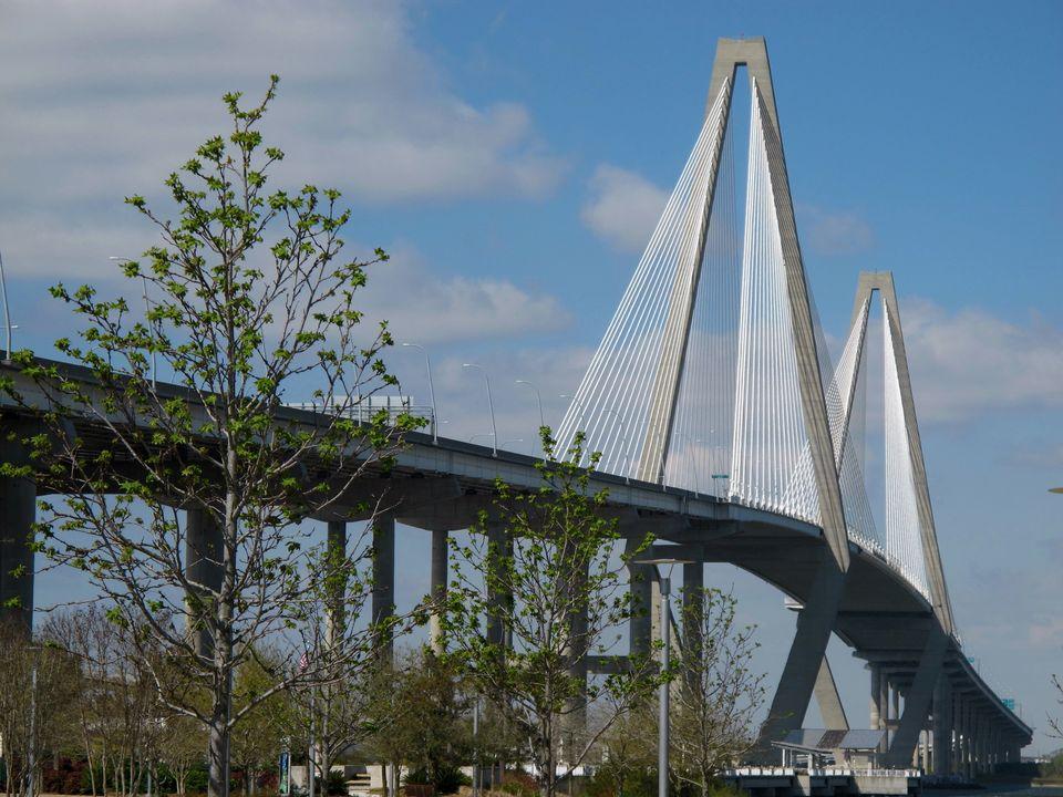 The Arthur Ravenel Bridge linking Mount Pleasant, S.C., and Charleston, S.C. The bridge, which cost $632 million to build, ha