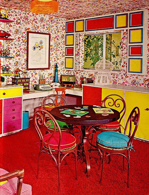 This room would have been fine, albeit loud, if the wallpaper wasn't extended to the ceiling. Or the curtains. We might have