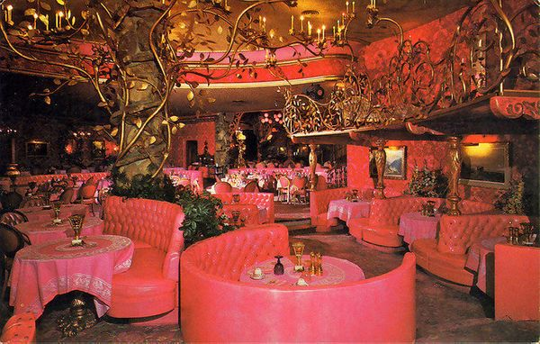 The inspiration here? Parisian nightclub meets Pepto.