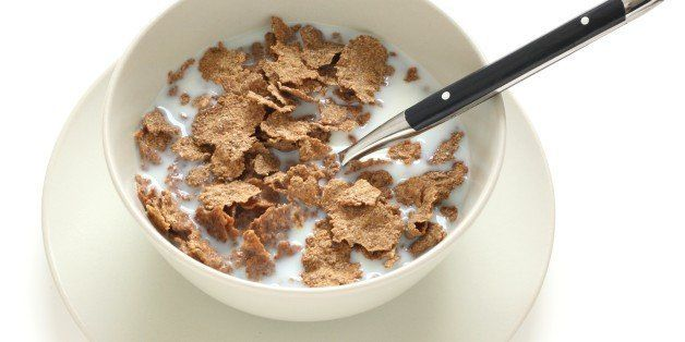 bowl with cereals and milk