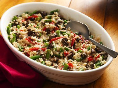 """Get the <a href=""""http://greengiant.com/recipes/detail/baked-vegetable-risotto"""" target=""""_blank"""">recipe</a>."""