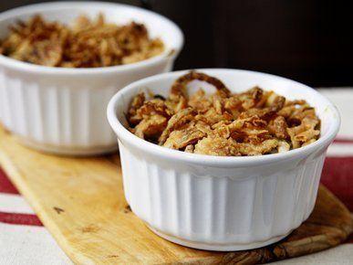 "Get the <a href=""http://greengiant.com/recipes/detail/mini-green-bean-casseroles-"" target=""_blank"">recipe</a>."