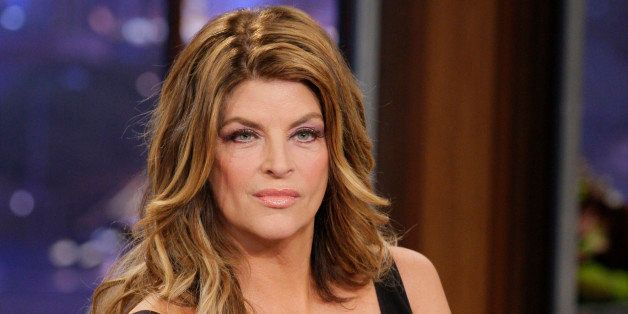 THE TONIGHT SHOW WITH JAY LENO -- Episode 4323 -- Pictured: Actress Kirstie Alley during an interview on September 26, 2012 -- (Photo by: Paul Drinkwater/NBC/NBCU Photo Bank via Getty Images)