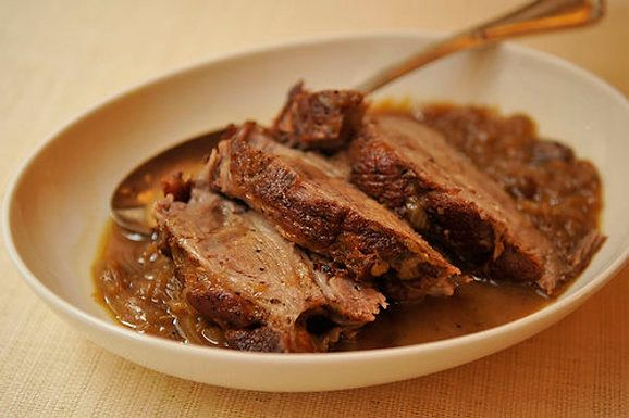 """<strong>Get the <a href=""""http://food52.com/recipes/1747-cider-braised-pork-shoulder-with-caramelized-onion-and-apple-confit"""""""