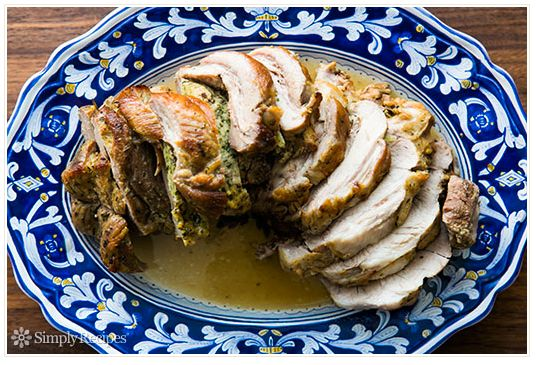 "<strong>Get the <a href=""http://www.simplyrecipes.com/recipes/stuffed_braised_pork_shoulder/"" target=""_blank"">Stuffed, Braise"