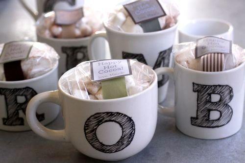 "A great <a href=""http://www.huffingtonpost.com/2012/12/03/homemade-gift-ideas-monogrammed-mugs_n_2233850.html?utm_hp_ref=huff"