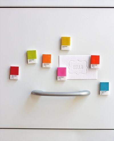 "A <a href=""http://www.huffingtonpost.com/2012/11/30/homemade-gift-ideas-pantone-magnets_n_2219894.html?utm_hp_ref=huffpost-ho"