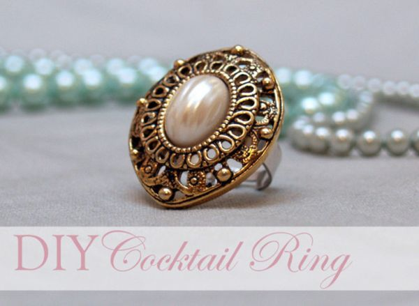 """Use an <a href=""""http://www.huffingtonpost.com/2012/03/13/craft-of-the-day-cocktail-ring_n_1339492.html?1350332112"""">old costum"""