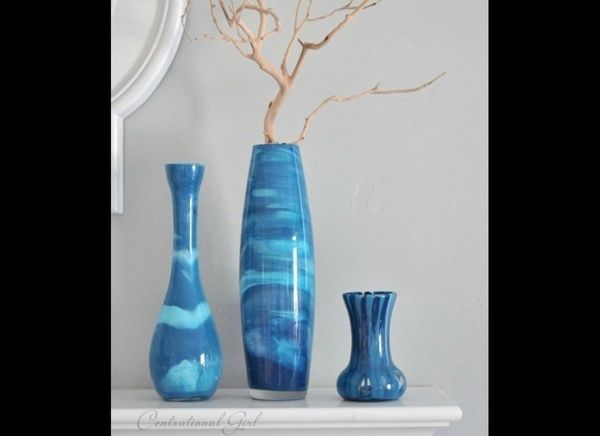 """Give the gift of funky home decor with these <a href=""""http://www.huffingtonpost.com/2012/05/03/craft-of-the-day-paint-swirl-v"""