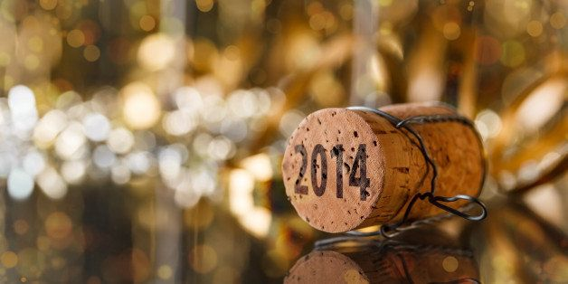 champagne cork new year's 2014