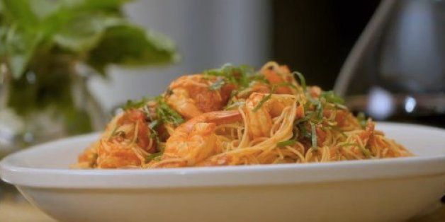 15 Minute Meal Angel Hair Pasta With Shrimp Recipe Video