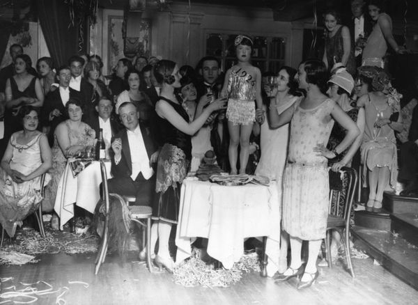 That child looks just so pleased to have received an extreme makeover by a group of flappers.