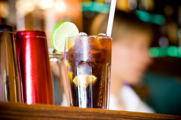 Think rum and coke or vodka cran. Mojitos are as complicated as we like to go.