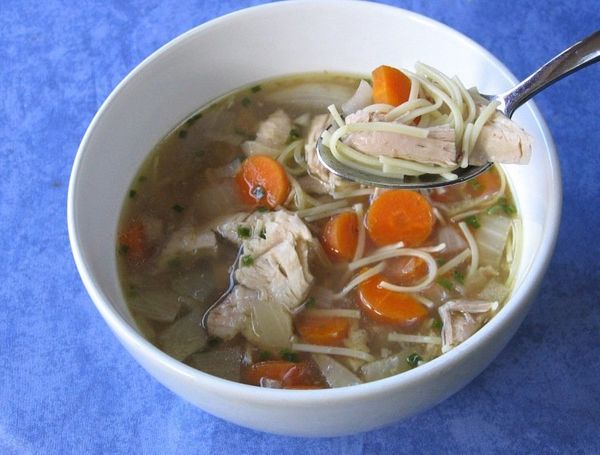 There's something about nine am and the smell of chicken stock that doesn't go over well.