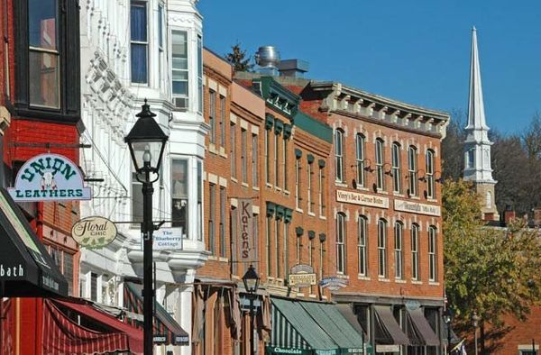 """Galena's Main Street epitomizes small town America. Just three hours outside Chicago, <a href=""""http://www.fodors.com/world/no"""
