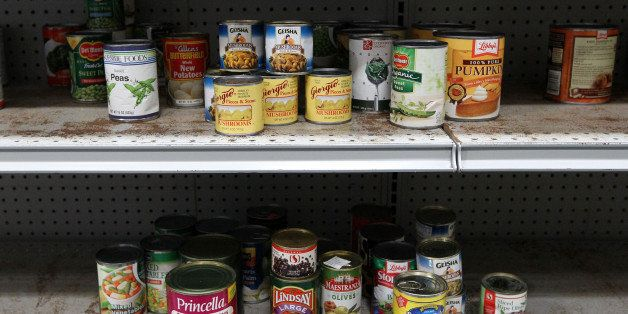 SAN FRANCISCO - NOVEMBER 23: Canned food sits on the shelf at the San Francisco Food Bank November 23, 2009 in San Francisco, California. As the U.S. continues to struggle through the recession and unemployment is at record highs, food banks are seeing an increased demand as the holiday season approaches. (Photo by Justin Sullivan/Getty Images)