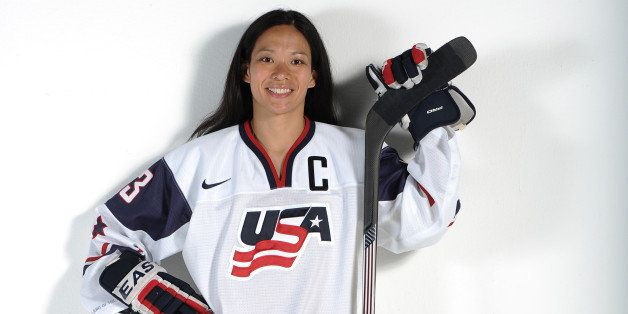 WEST HOLLYWOOD, CA - APRIL 27:  Ice hockey player Julie Chu poses for a portrait during the USOC Portrait Shoot on April 27, 2013 in West Hollywood, California.  (Photo by Harry How/Getty Images)