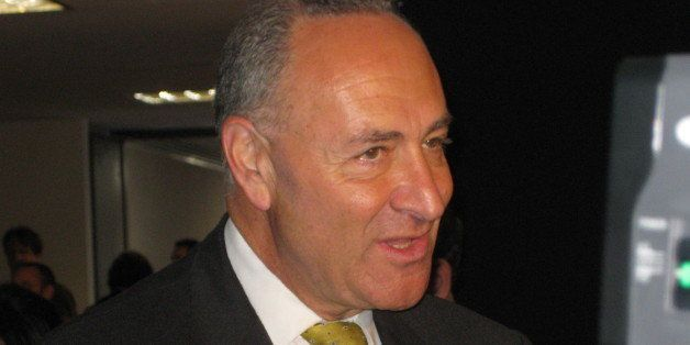 Sen. Chuck Schumer (D- N.Y.) outside the Sotomayor hearing