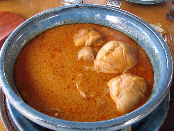 A yam-based dumpling, the fufu is common in Central and West Africa. Pounded yams -- or other starchy vegetables -- are forme