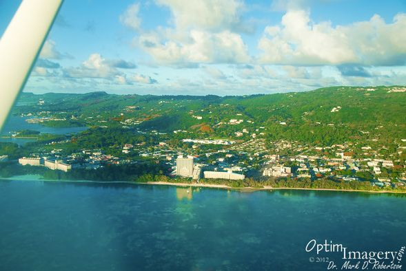 """Development is heaviest along Saipan's coast, as you can see in this aerial view by <a href=""""http://www.optimimagery.com/CNMI"""