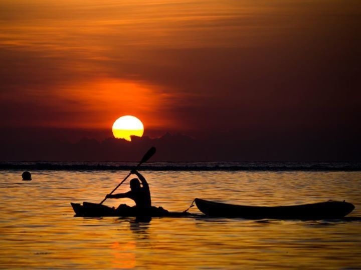 Athletic folks are known to enjoy a sunset paddle. Outrigger canoeing is a traditional activity in the Marianas; in fact, it'