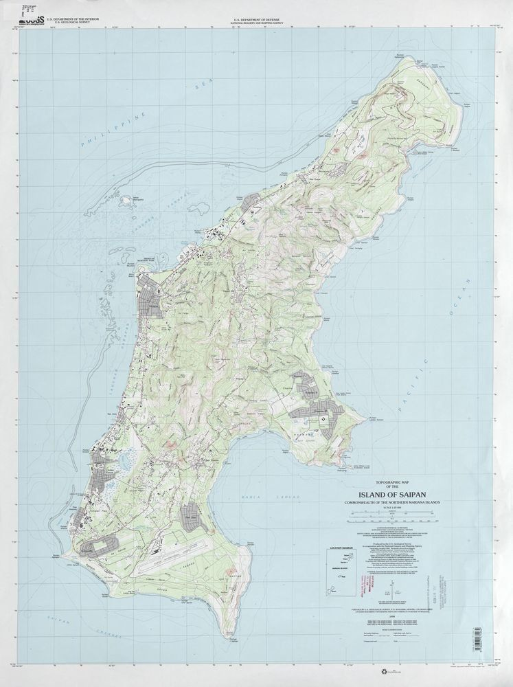 A government map will give you an overview. And allow you to judge for yourself what some say, which is that Saipan, beautifu