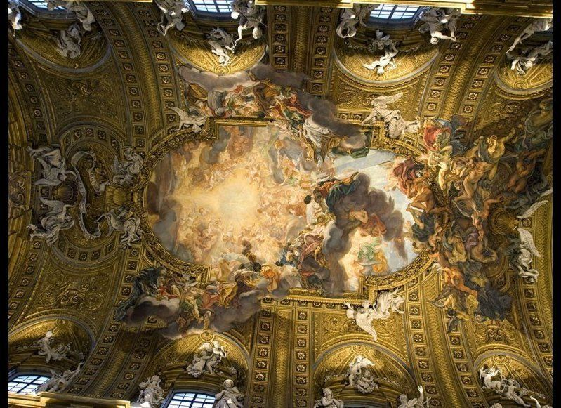 <strong>IL GESU</strong>  The Jesuit order was known for their sumptuous churches during the Baroque age, and nowhere is th