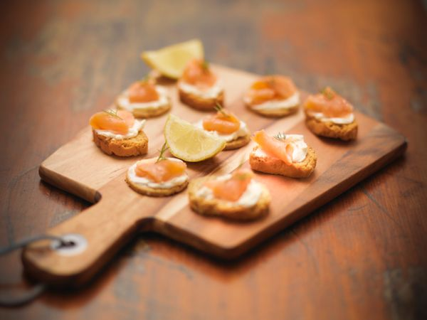 Tiny, fancy foods are for other parties. This party is for big, messy, overblown foods. Smoked salmon toasts need not apply.