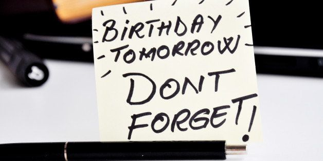 don't forget birthday