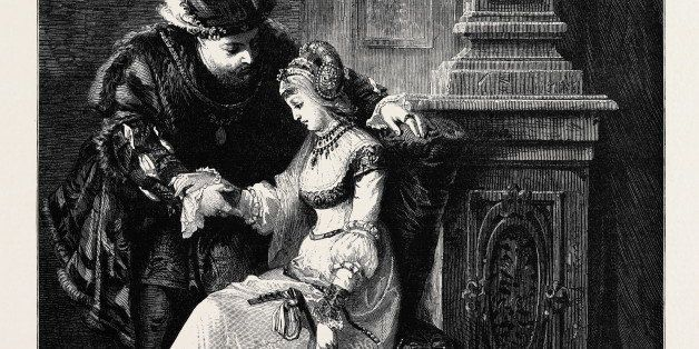 Henry Viii. And Anne Boleyn,' By G.F. Folingsby, From The National Gallery Of Art At Melbourne, Australia, 1880. (Photo by: Universal History Archive/UIG via Getty Images)