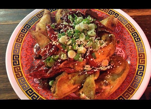 <strong>Mission Chinese (San Francisco and New York City)</strong>  Chongqing Chicken Wings with Explosive Chili: At Missio