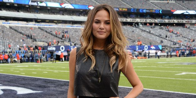 EAST RUTHERFORD, NJ - FEBRUARY 02: Model Chrissy Teigen attends the Pepsi Super Bowl XLVIII Pregame Show at MetLife Stadium on February 2, 2014 in East Rutherford, New Jersey.  (Photo by Theo Wargo/FilmMagic)