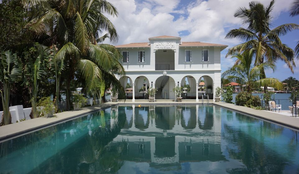 Al Capone's grandniece Deidre Marie Capone, 72, toured the mobster's former mansion on Palm Island. The home is for sale for