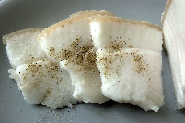 You are looking at cured slabs of backfat. <strong>This. Is. Serious.</strong> Salo is sometimes eaten straight up, along wit