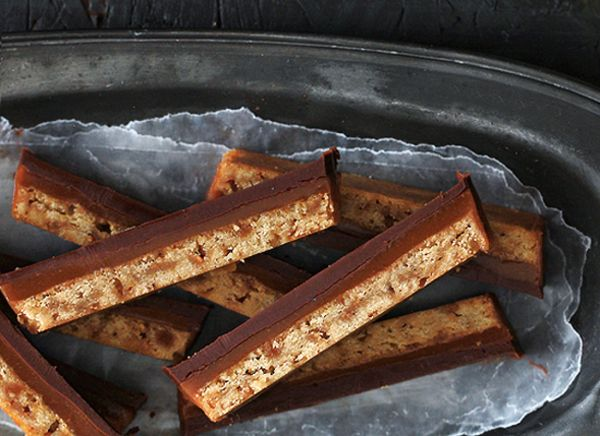 "<strong>Get the <a href=""http://www.bakersroyale.com/candy/er-homemade-twix-bars/"" target=""_blank"">Homemade Twix</a> recipe f"