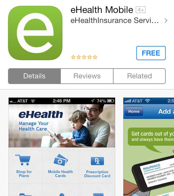"""<a href=""""http://www.ehealthinsurance.com/"""" target=""""_blank"""">Health insurance broker eHealth </a>has an app that can help you f"""