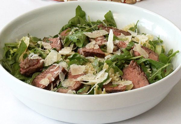 "This pasta salad with steak is award winning -- ""I actually won first prize with this recipe in a celebrity chef contest,"" sa"