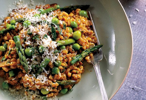 "Get your carbs the right way in this savory pasta dish.  <a href=""http://www.oprah.com/food/Asparagus-and-Pea-Farrotto"">Get t"