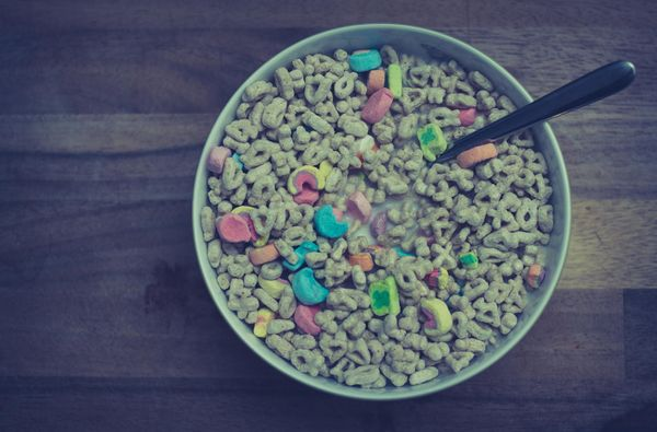 And obviously Lucky Charms were a staple in your rotation.
