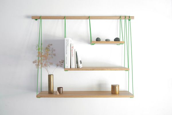 "The <a href=""http://www.outofstockdesign.com/html/"" target=""_blank"">simple Bridge shelves</a> are elegant and easy to put tog"