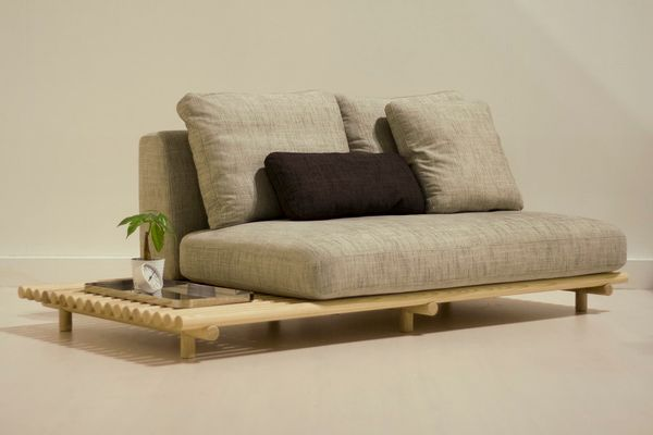 "Unlike a huge sectional couch, the <a href=""http://www.outofstockdesign.com/html/"" target=""_blank"">Raft Sofa</a> from Outofst"